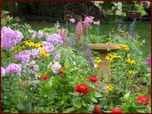 Flower garden: simple