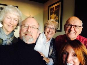 From l. to r.: Diane, John, Elaine, David, Marti.